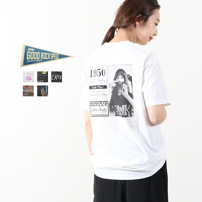 GOOD ROCK SPEED *グッドロックスピード プリント半袖Tシャツ