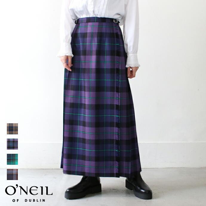 O'NEIL OF DUBLINキルトロング巻スカート