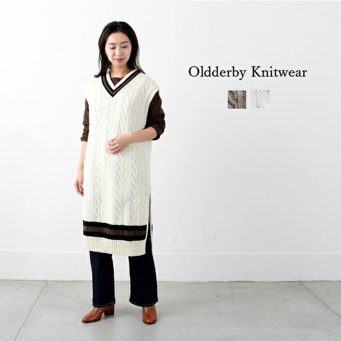 Oldderby Knitwear *オールドダービーニットウェア  チルデンニットベストワンピース