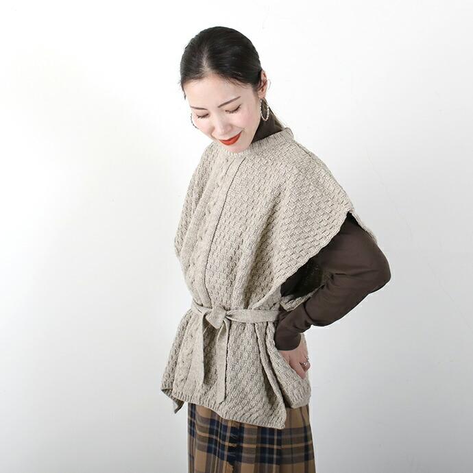 Oldderby Knitwear *オールドダービーニットウェア ウールポンチョベスト