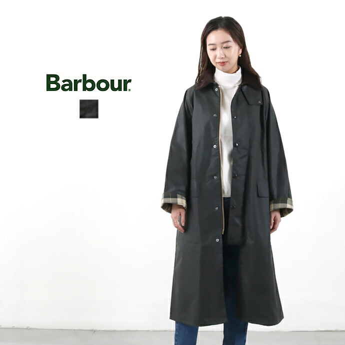 Barbour *バブアー オーバーサイズワックスドコットンステンカラーコート【OVERSIZE WAX BURGHLEY】