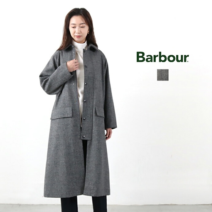 Barbour *バブアーワウールステンカラーコート【LADIES BURGHLEY WB GLENCLUBCHECK】