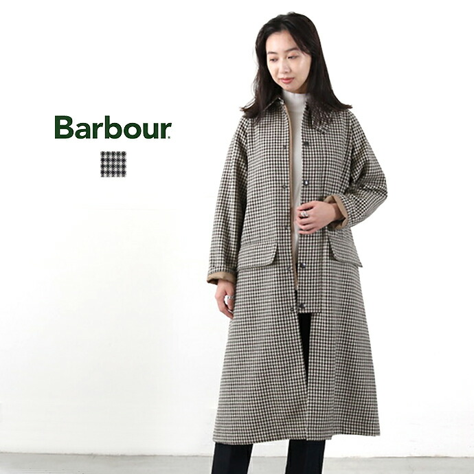 Barbour *バブアー ウールステンカラーコート【LADIES BURGHLEY WB GLENCLUBCHECK】