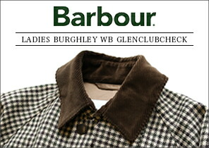 Barbour バブアー ウールステンカラーコート LADIES BURGHLEY WB GLENCLUBCHECK