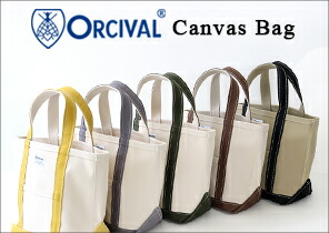orcival オーチバル オーヴァル キャンバストートバッグ