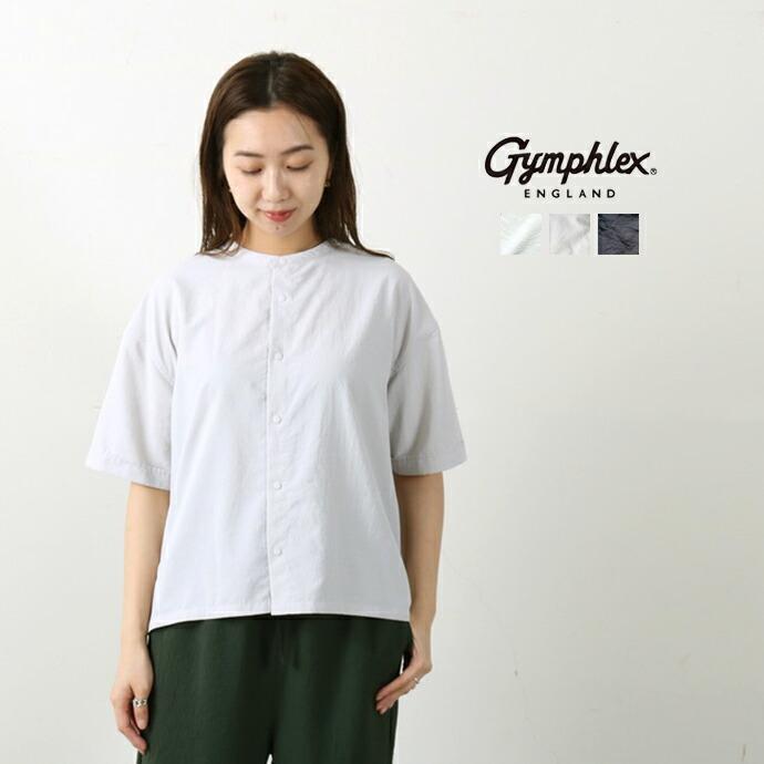 GYMPHLEX *ジムフレックス ブロードスタンドカラー半袖シャツ