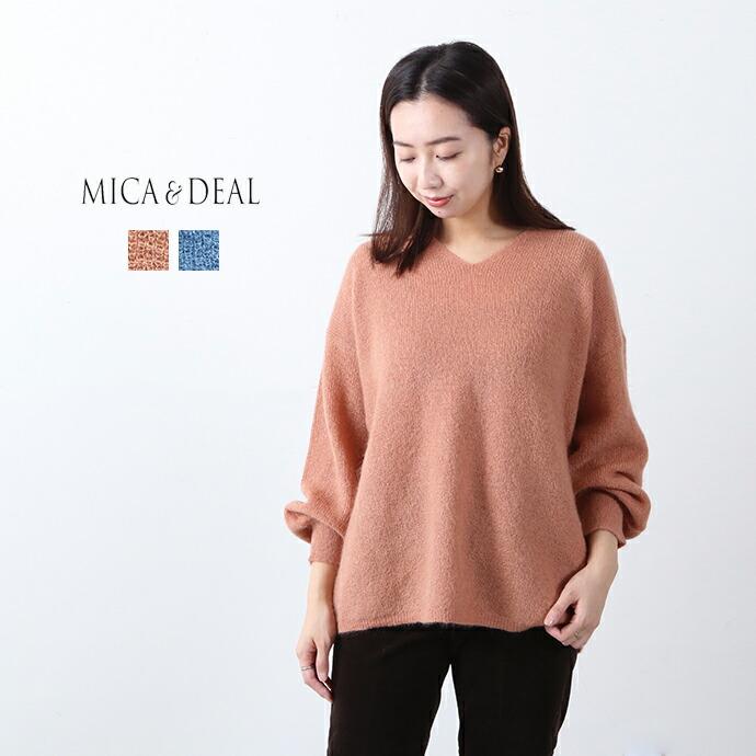 MICA&DEAL *マイカアンドディール モヘヤ混畦編みニットプルオーバー