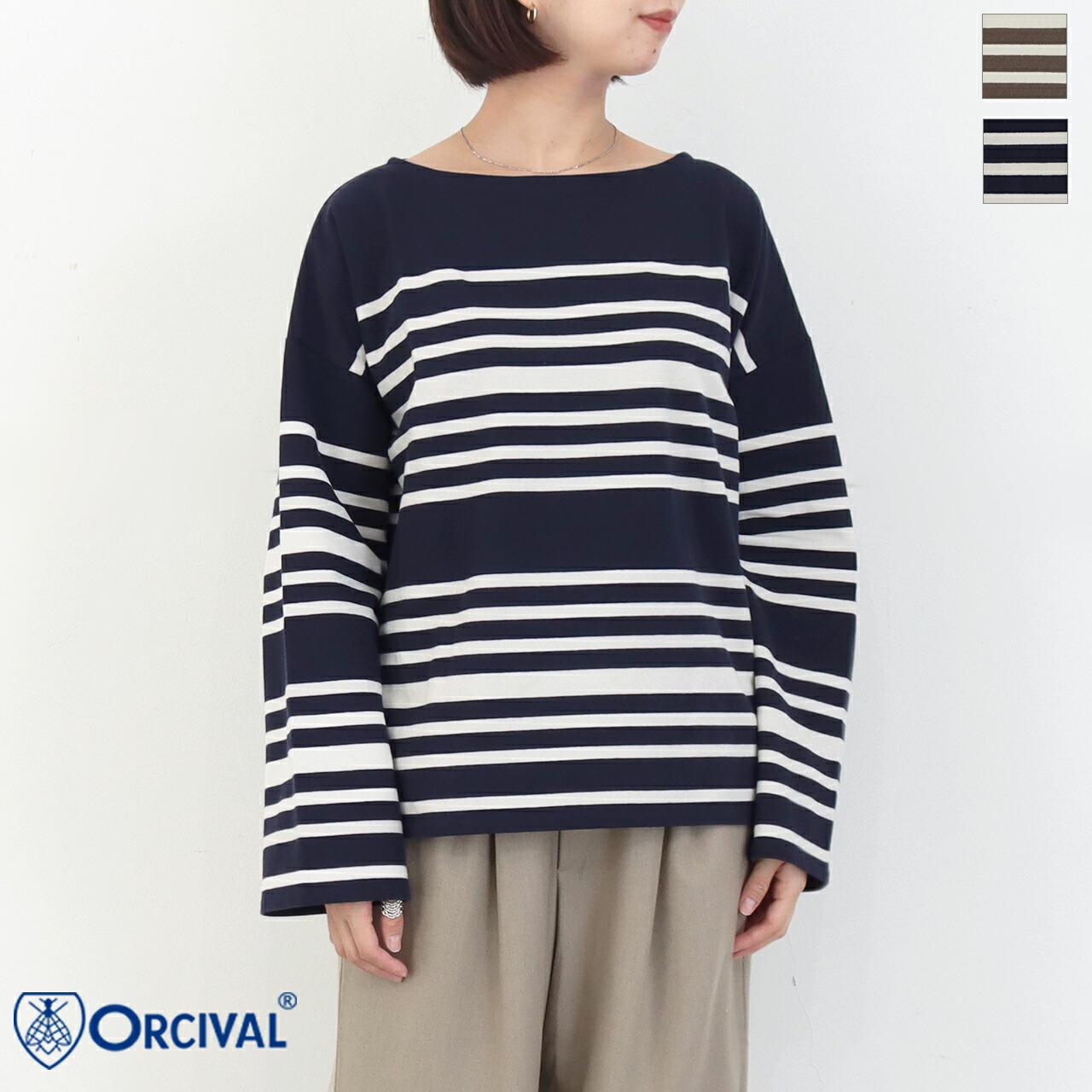 ORCIVAL *オーチバル ラッセルフレンチセーラードロップショルダーTシャツ