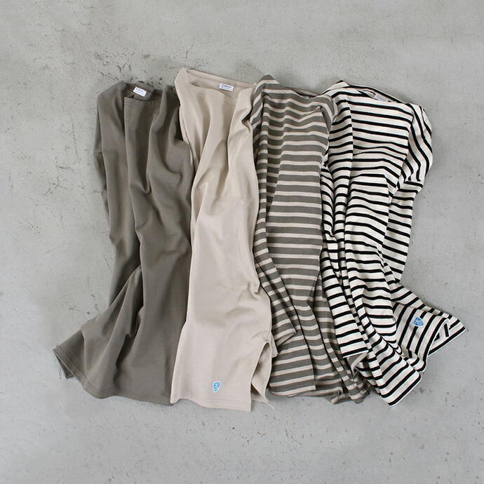 ORCIVAL ボートネックチュニックバスクTシャツ