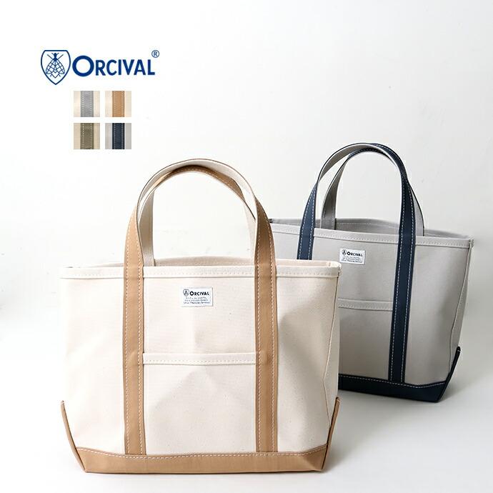 ORCIVAL *オーチバル コットンキャンバストートバッグ【M】