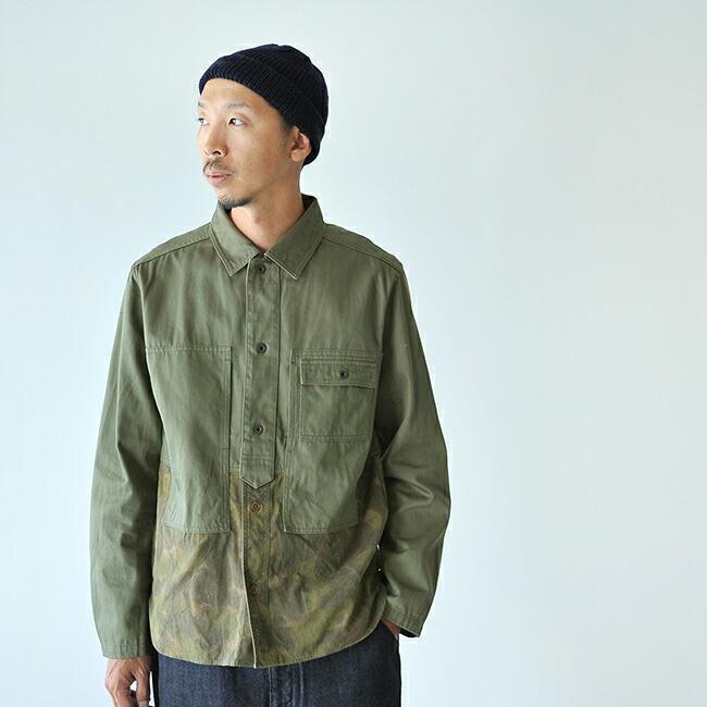 da89bc4ca86f    Nigel Cabourn Nigel Kay Bonn    UTILITY JACKET - CAMOUFLAGE SATIN  utility jacket camouflage satin