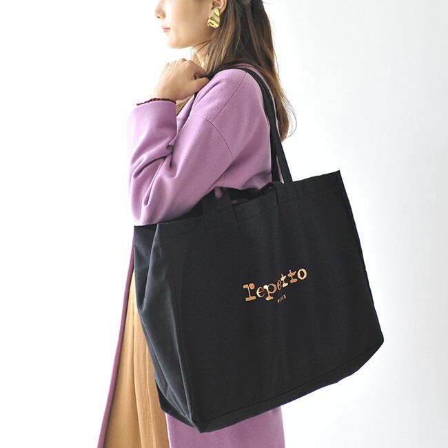 57faf3e6e773 レディース《 repetto レペット 》 Danseuse shopping bag ダンス ビッグサイズ 2way トートバッグ. ビッグな2way キャンバストートバッグ♪