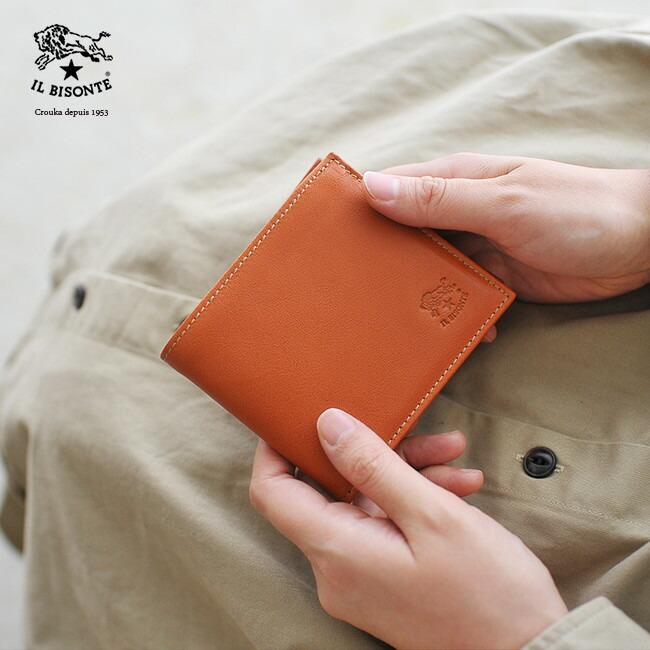 e6409c692a7f レディース《 IL BISONTE イルビゾンテ 》 二つ折り 財布 コンパクト ウォレット