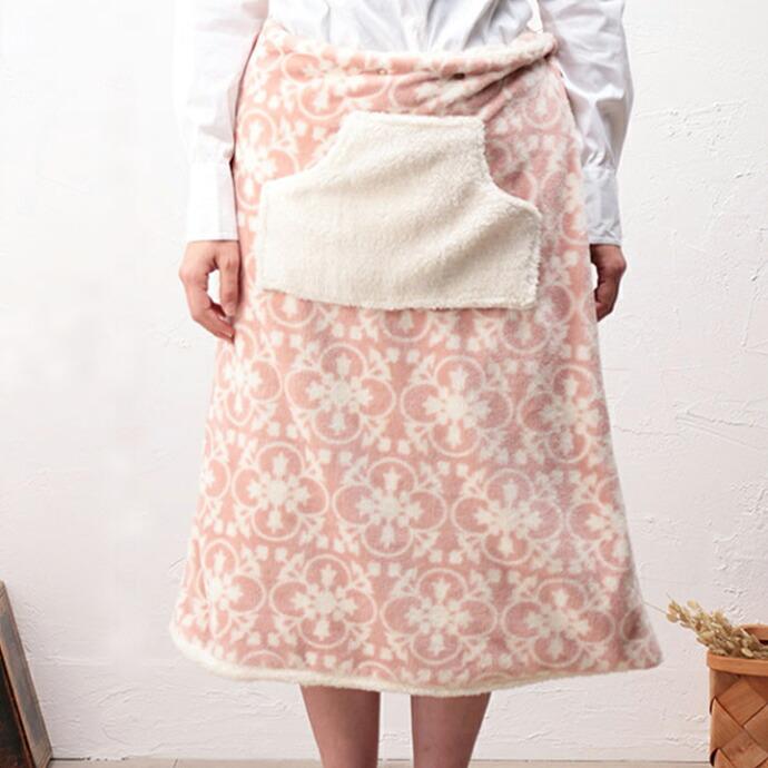 ポケット付き 巻きスカート