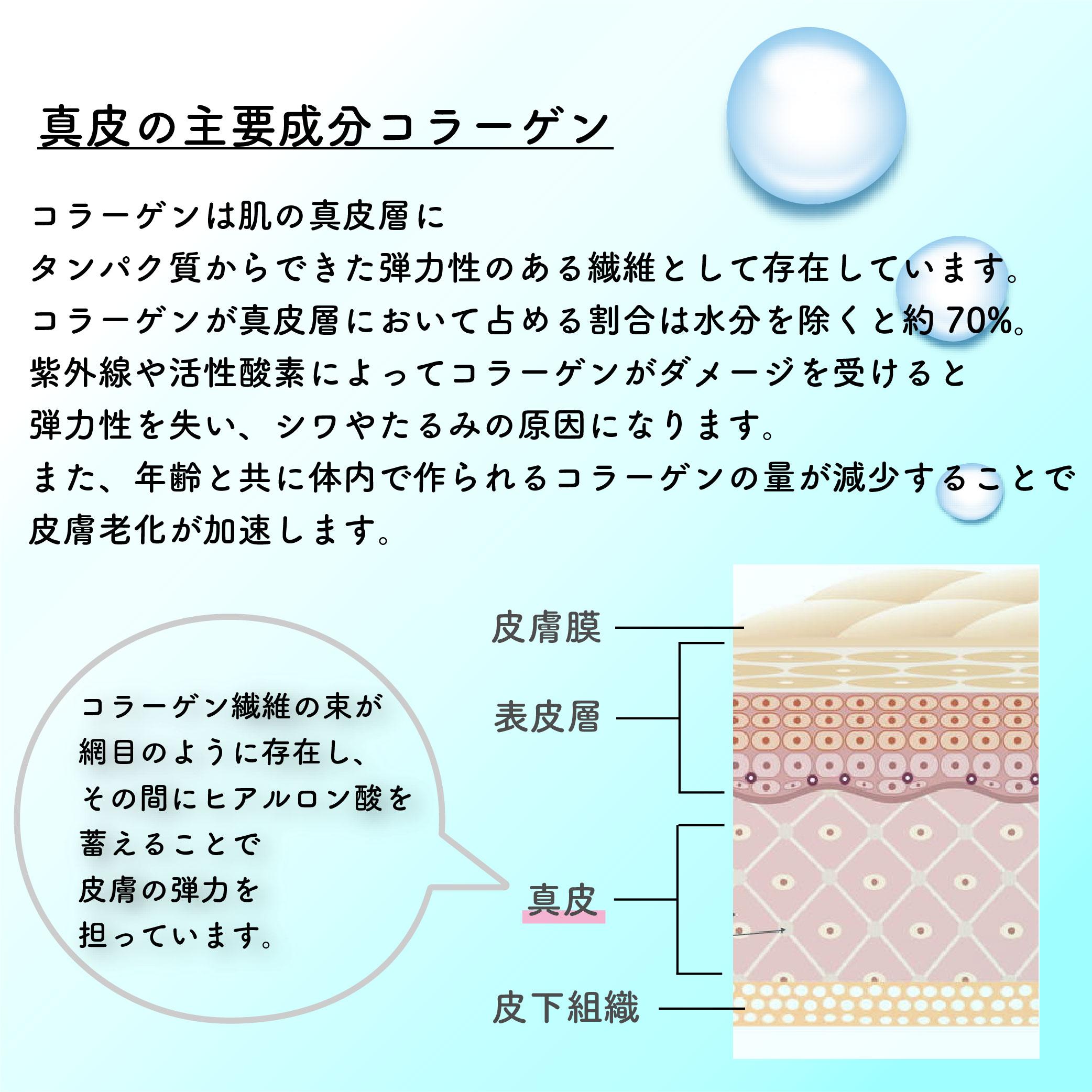 コラーゲンパウダーCOLPEと肌