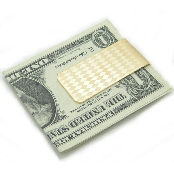 Money clip mbc3 of the diamond pattern to be able to choose silver gold