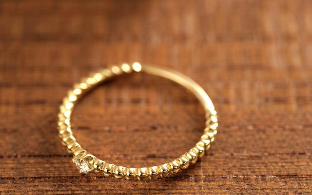 K18 18金 リング 指輪 ダイヤモンドリング fortunate dia Ring