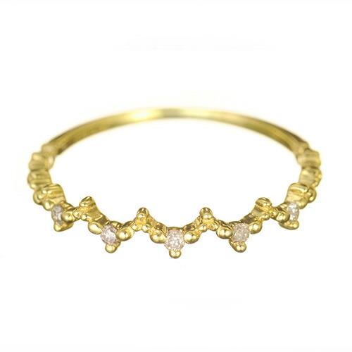 K18 ダイヤモンドリング dress dia Ring