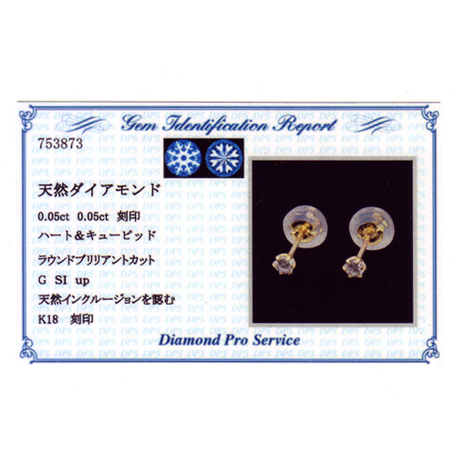 K18 ダイヤモンド ピアス angel arrow 0.1ct pierced earrings