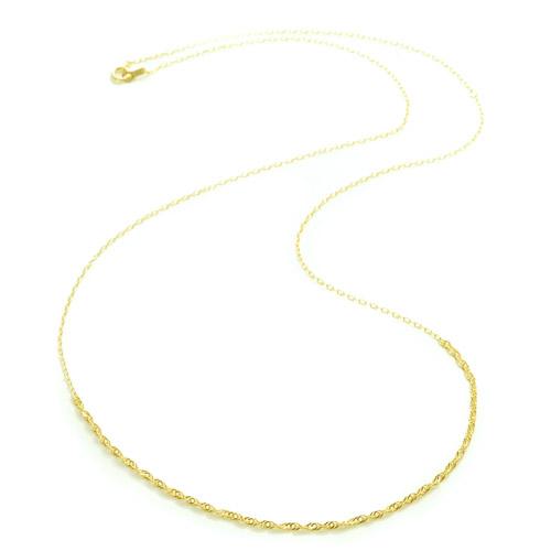 K18 necklace  K18ネックレス crochet chain