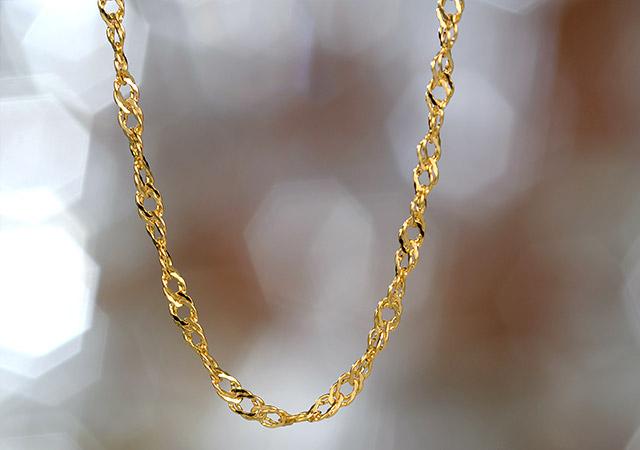 K18 ネックレス crochet chain