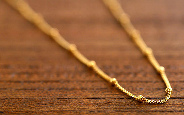K18 ネックレス humming chain 60