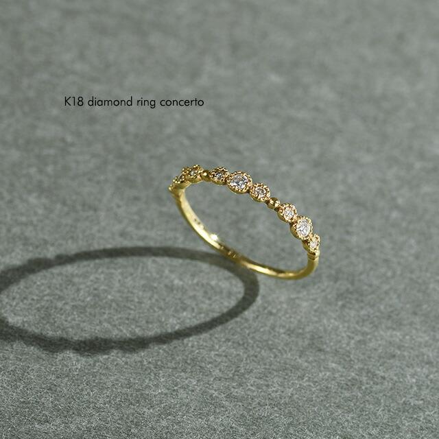 K18 diamond ring K18ダイヤモンドリング concerto