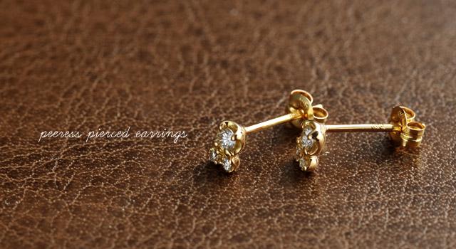 K18 diamond necklace K18ダイヤモンドピアス peeress