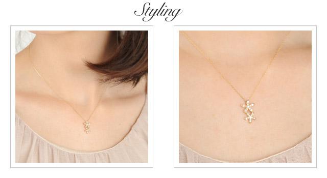 K18 diamond necklace K18 ダイヤモンド ネックレス bouquet