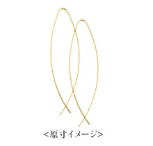 K18 pierced earrings K18 ピアス elegant drip