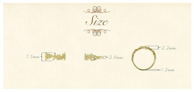 K18 diamond ring K18 ダイヤモンド リング bouquet