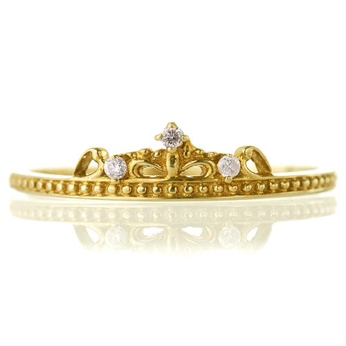 K18 diamond ring tiny tiara