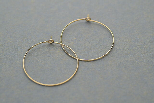 K18フープピアスelegant hoop
