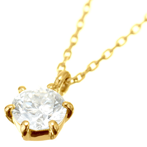 K18 diamond necklace float 0.2ct