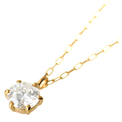 K18 diamond necklace float 0.3ct