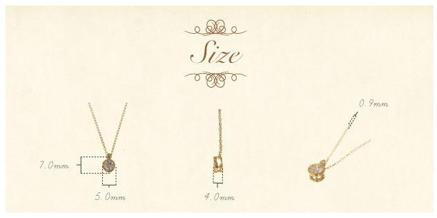 K18 diamond necklace chateau 0.2ct