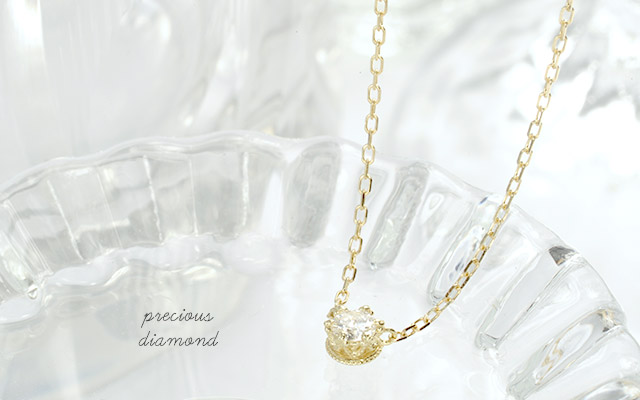 K18 birthstone necklace K18 誕生石 ネックレス precious ダイヤモンド