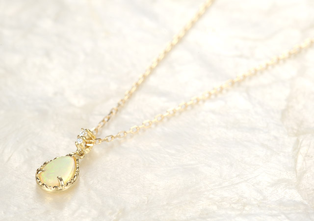 K18 opal necklace K18 オパール ネックレス    destiny drop