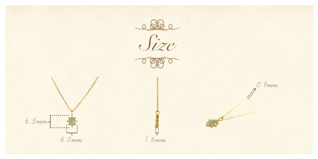 K18 opal necklace K18 オパール ネックレス    destiny oval