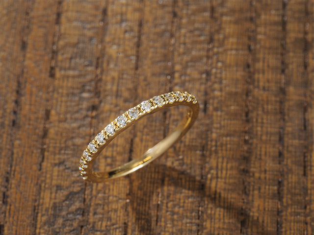 K18 diamond ring glorious 0.2ct