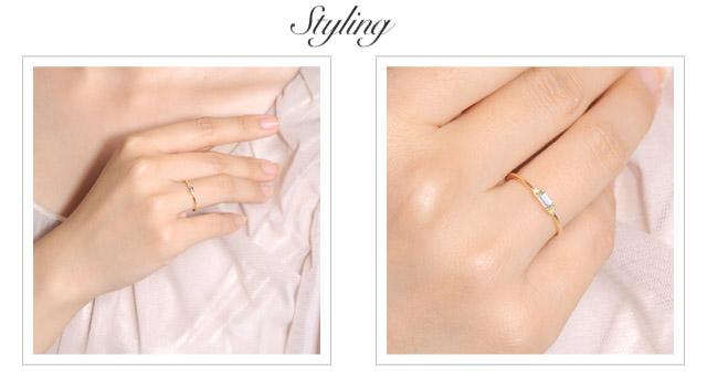 K18 color stone ring classico