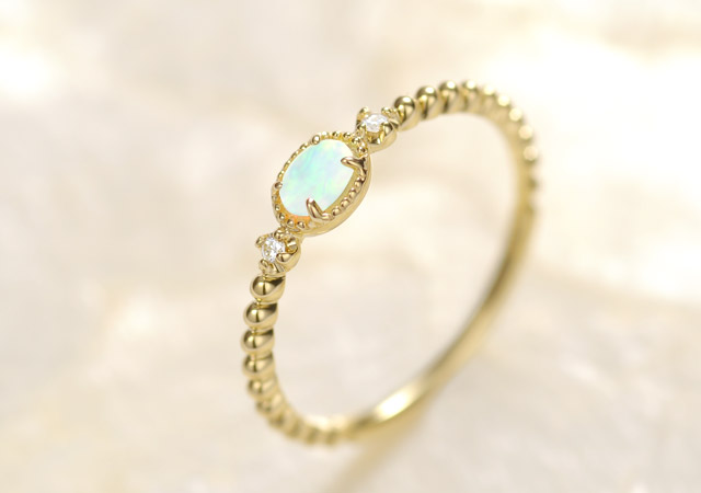 K18 opal ring K18 オパール リング K18 opal ring destiny oval