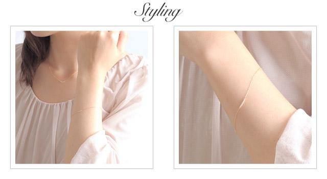 K18 diamond bracelet K18 ダイヤモンド ブレスレット tender line