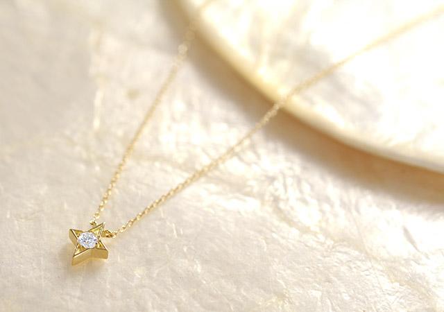 K18 diamond necklace K18 ダイヤモンド ネックレス twinkle