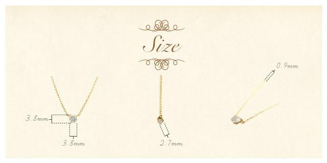 K18 diamond necklace K18 ダイヤモンド ネックレス innocent 0.2ct