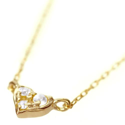 K18 diamond necklace K18 ダイヤモンド ネックレス tiny love