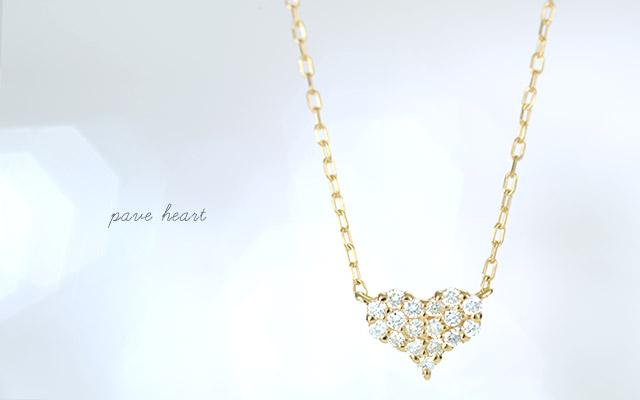 K18 diamond necklace K18 ダイヤモンド ネックレス pave heart