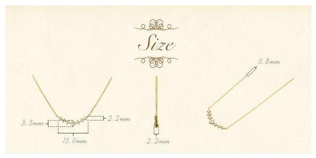 K18 diamond necklace K18 ダイヤモンド ネックレス ease