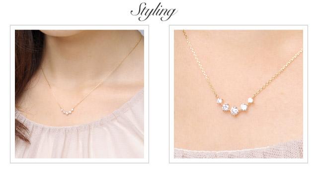 K18 diamond necklace K18 ダイヤモンド ネックレス emotion
