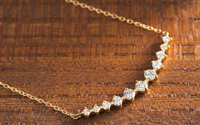 K18 diamond necklace K18 ダイヤモンド ネックレス star line 0.5ct